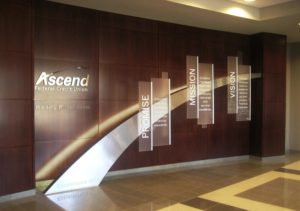 Custom credit union interior signage by ARTfx sign company in Connecticut